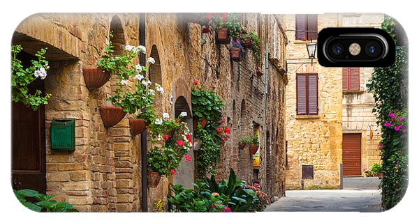 Italy iPhone Case - Pienza Street by Inge Johnsson