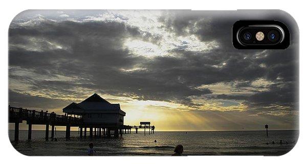 Pier 60 Sunset Phone Case by Lori  Burrows