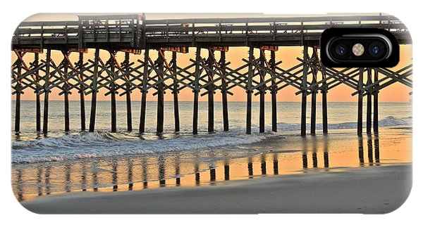 Pier At Sunset IPhone Case