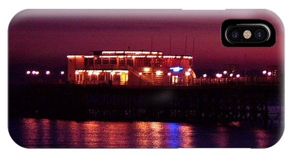 Pier By Night Phone Case by Mark Bowden