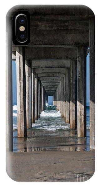 Scripps Pier iPhone Case - Pier Geometry by Ana V Ramirez