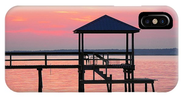 Pier In Pink Sunset IPhone Case