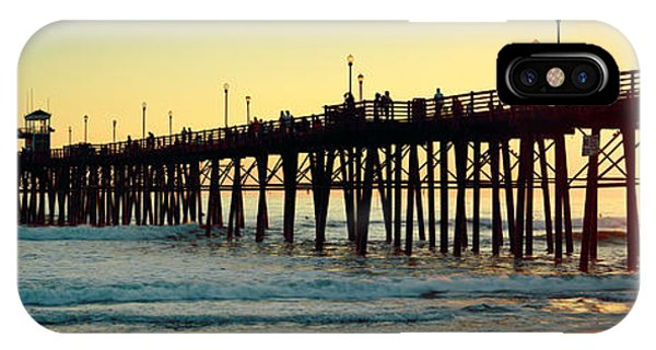 Pier In The Ocean At Sunset, Oceanside IPhone Case