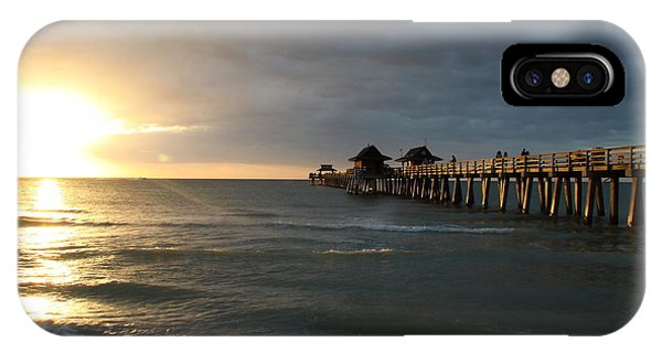 Pier Sunset Naples IPhone Case