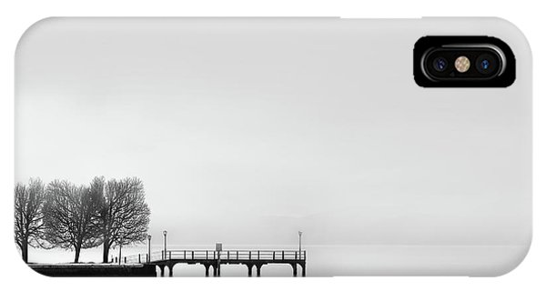 Pier iPhone Case - Pier With Trees (2) by George Digalakis