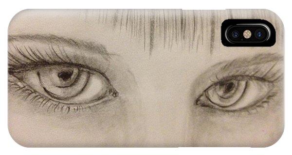 Piercing Eyes IPhone Case