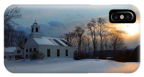 Piermont Church In Winter Light IPhone Case