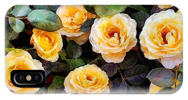 Pierre's Peach Roses IPhone Case