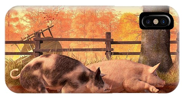 Barbeque iPhone Case - Pig Race by Daniel Eskridge