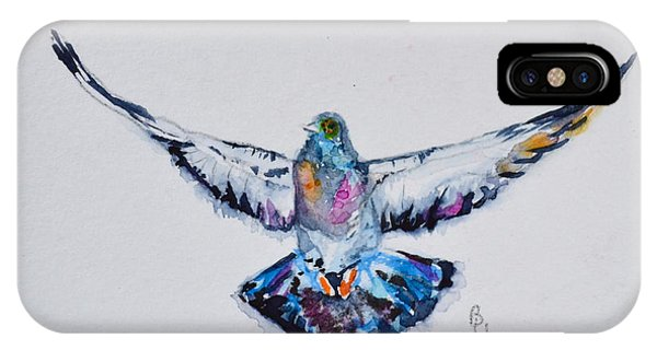 Pigeon In Flight IPhone Case