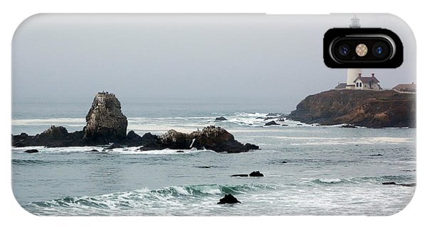 Pigeon Point Lighthouse In The Fog IPhone Case
