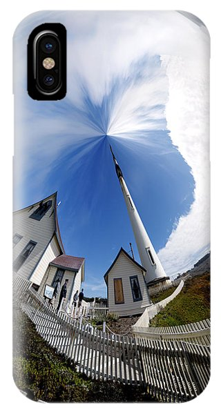 Pigeon Point Lighthouse Polar View IPhone Case