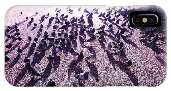 Pigeons And Shadows IPhone Case