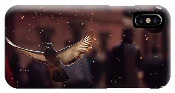 Flight iPhone Case - Pigeons In Patan Square, Kathmandu-nepal by Dan Mirica