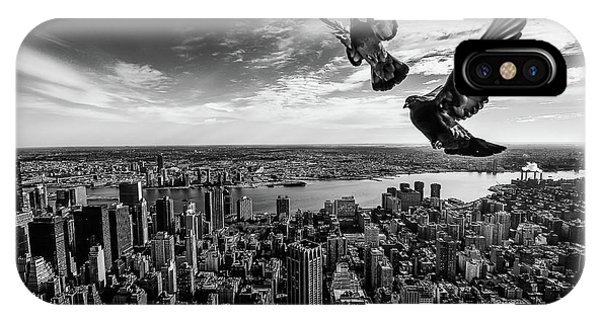 Pigeon iPhone Case - Pigeons On The Empire State Building by