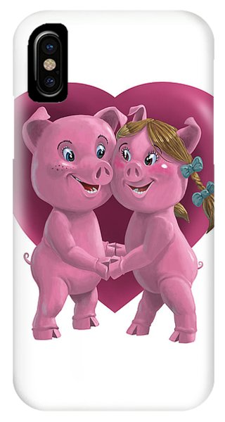 Pigs In Love IPhone Case