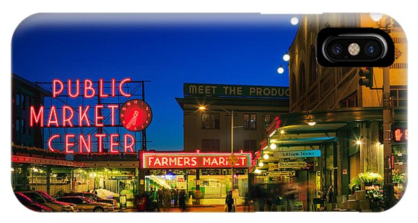 Downtown Seattle iPhone Case - Pike Place Market by Inge Johnsson