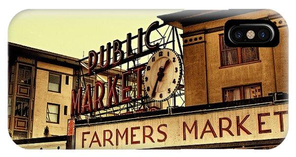 iPhone Case - Pike Place Market - Seattle Washington by David Patterson