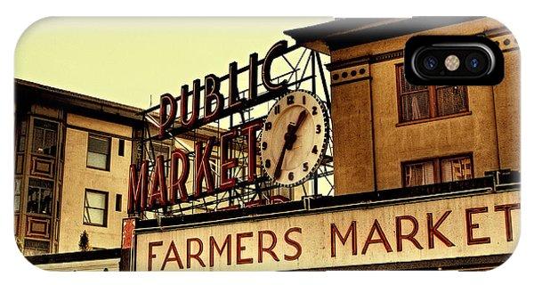 Pike Place Market - Seattle Washington IPhone Case
