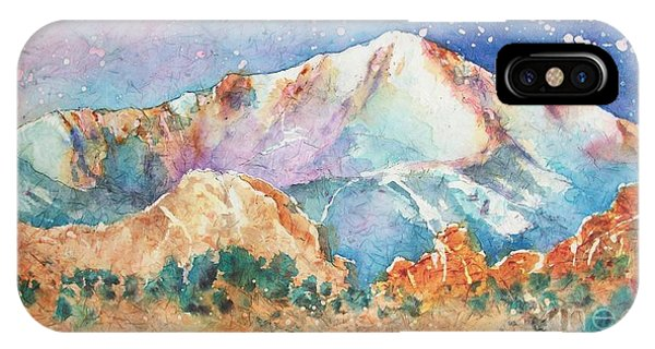 Pikes Peak Over The Garden Of The Gods IPhone Case