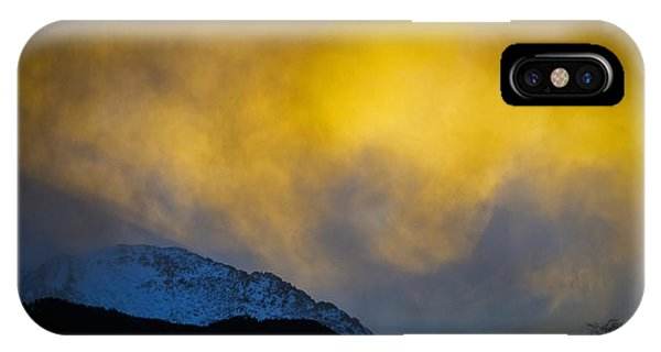 Pike's Peak Snow At Sunset IPhone Case