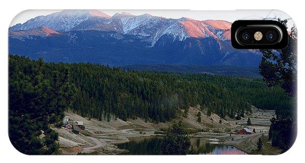 Pikes Peak Sunset IPhone Case