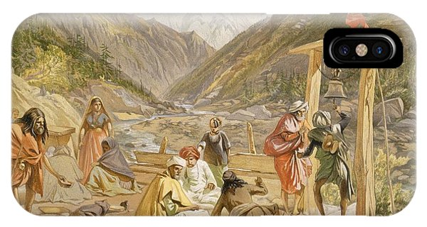 Pilgrims At Gangootree, From India IPhone Case