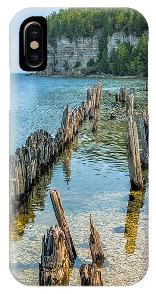 Pilings On Lake Michigan IPhone Case