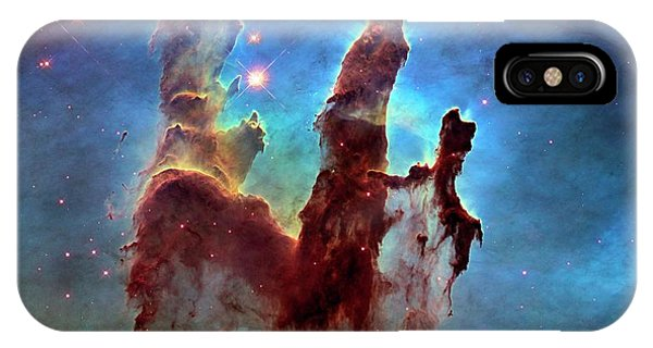 iPhone Case - Pillars Of Creation In Eagle Nebula by Nasa, Esa, And The Hubble Heritage Team (stsci/aura)/science Photo Library