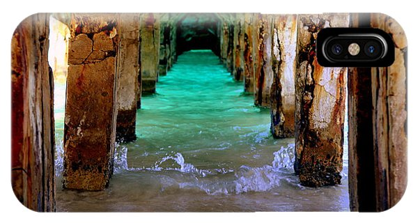 Under Water iPhone Case - Pillars Of Time by Karen Wiles