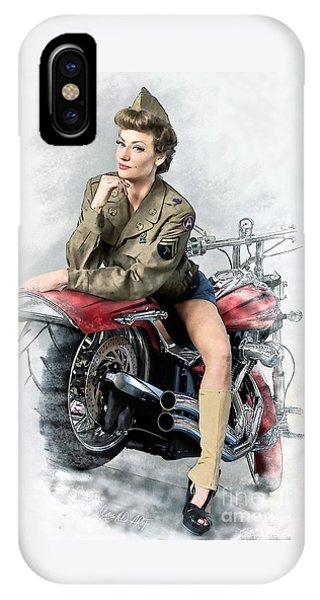 Pin-up Biker  IPhone Case