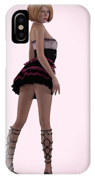 Pin Up In Pink IPhone Case