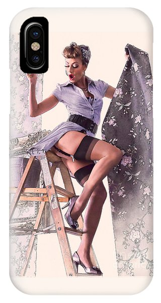 Pin-up Maid IPhone Case