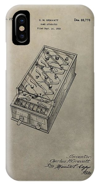 Toy Shop iPhone Case - Pinball Machine Patent by Dan Sproul