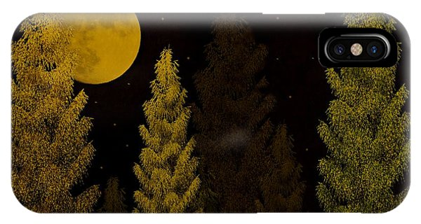 Pine Forest Moon IPhone Case