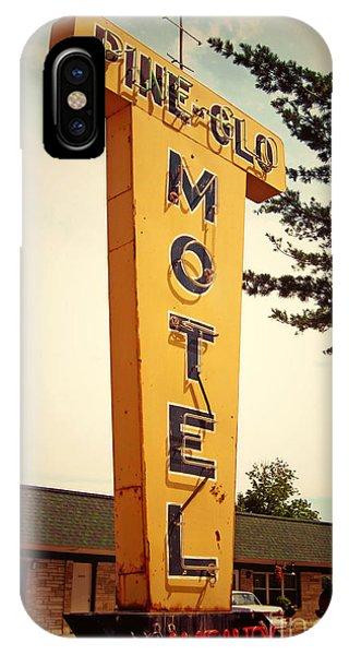 Attraction iPhone Case - Pine Glo Motel by Jim Zahniser