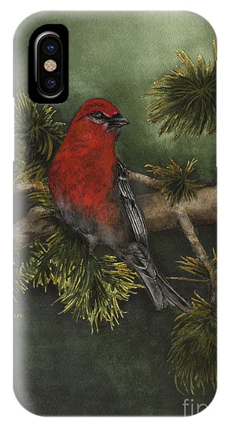 Pine Grosbeak IPhone Case
