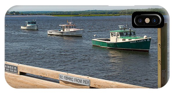 Pine Point Lobster Boat Line IPhone Case