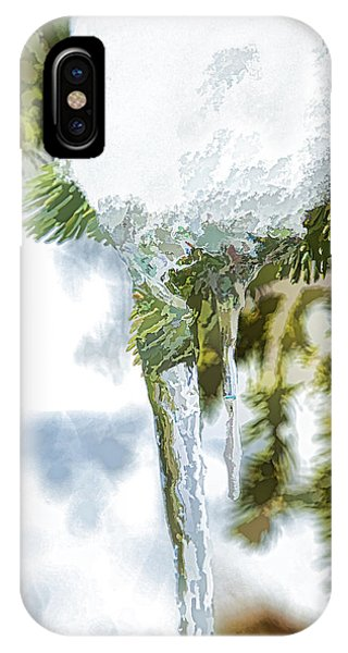 Pine Snow And Ice IPhone Case