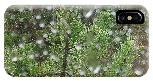 Pine Tree In The Rain IPhone Case