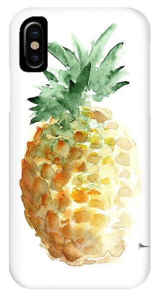 Pineapple Art Print Watercolor Painting IPhone Case