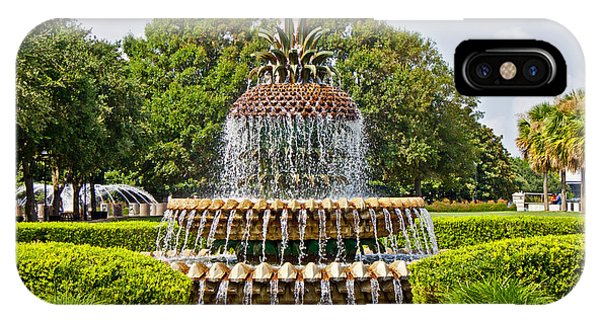 Pineapple Fountain In Waterfront Park IPhone Case