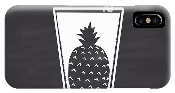 Fruit iPhone Case - Pineapple Juice Drawn In Chalk In A by Anat om