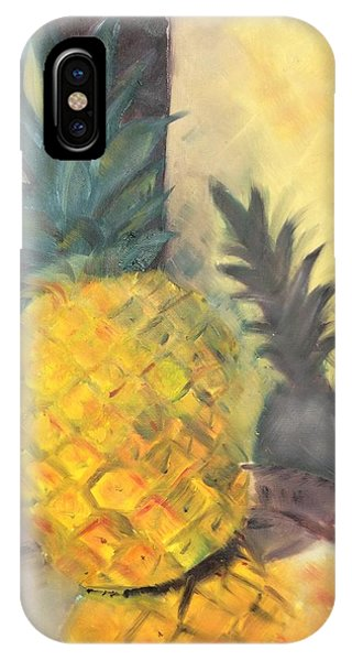 Pineapple On A Silver Tray IPhone Case