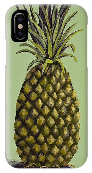 Pineapple On Green IPhone Case