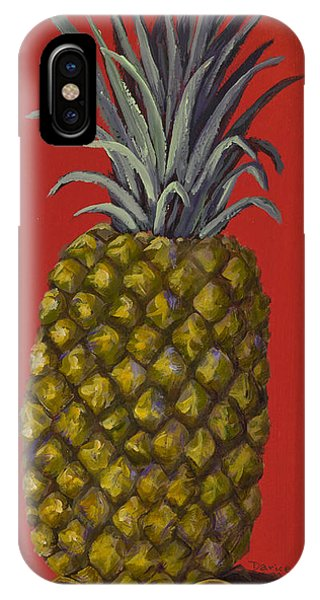 Pineapple On Red IPhone Case
