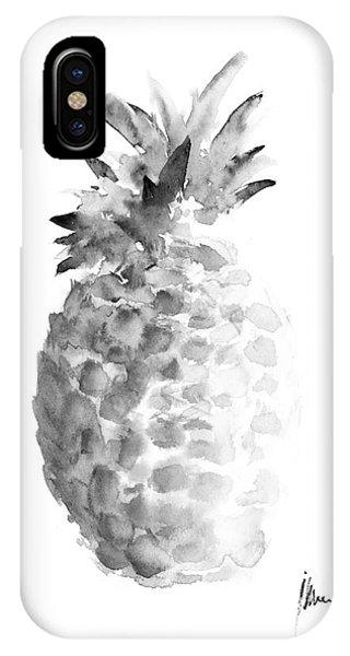 Pineapple Painting Watercolor Art Print IPhone Case