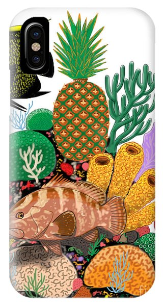 Reef iPhone Case - Pineapple Reef by Carey Chen