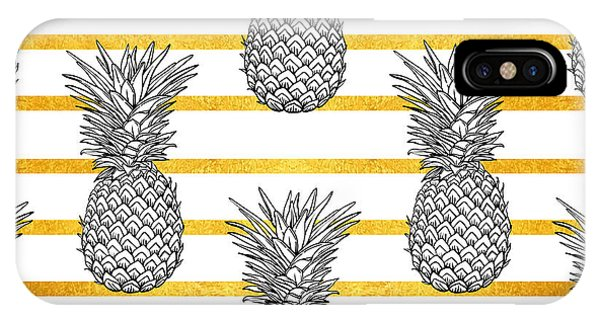 Stripe iPhone X Case - Pineapple Tropical Vector Seamless by Vavavka