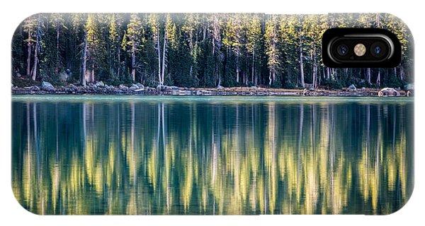 Pines Reflected In Tenaya Lake IPhone Case
